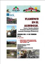 Flamenco en el Albergue Fuente Agria